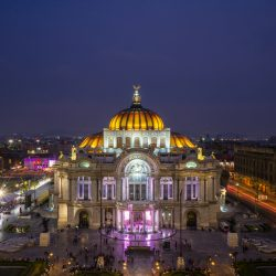 Palacio de Bellas Artes from Sears Cafe